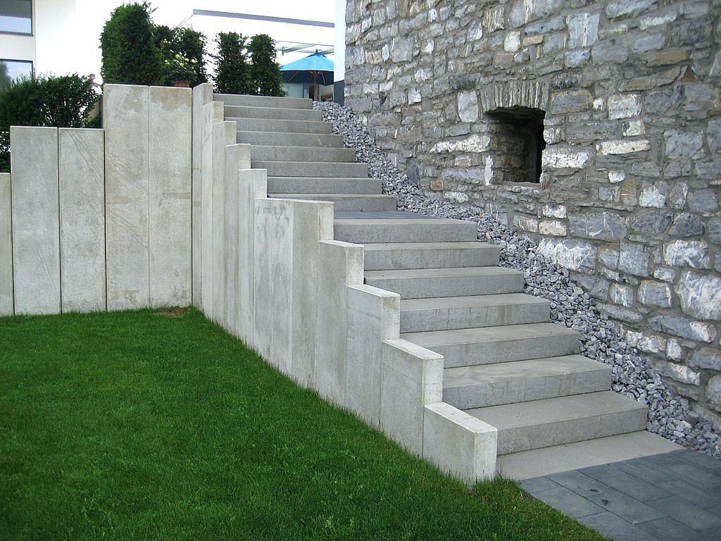 Beliebt Eingangstreppe Beton Winkelsteine L Stein Treppe Stufen WP79