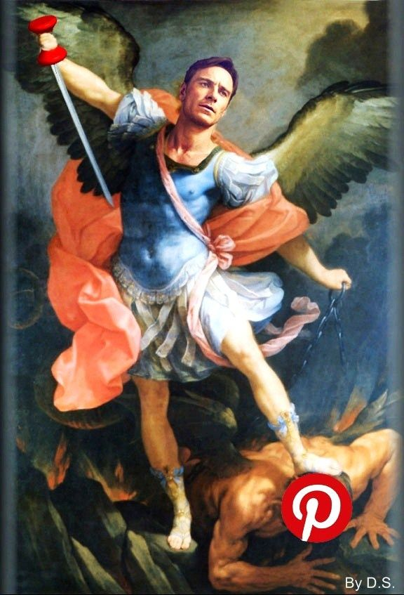 that is SOOOO hilarious!!!! :)  ....Archangel Michael, patron of all Fassy boards! lol
