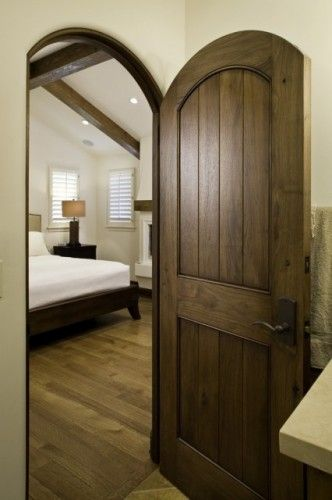 Loving The Natural Wood Look Better Than The Painted Interior Doors