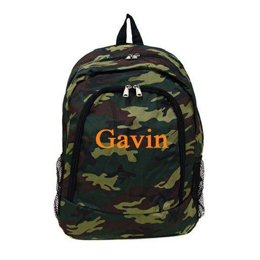 fae503d17d Personalized Monogrammed Camo Backpack Boys Girls Children Kids ...