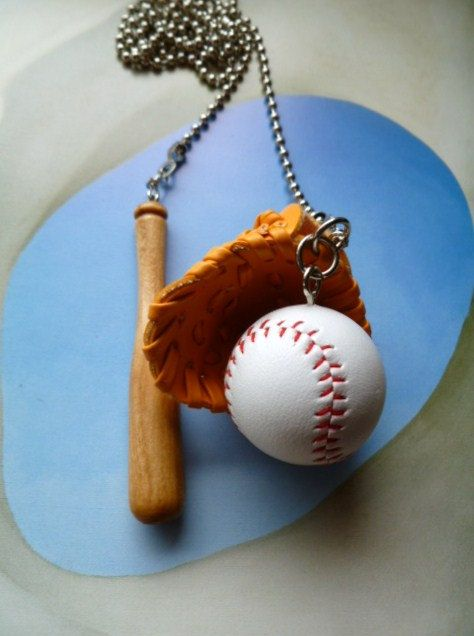 Baseball Ceiling Fan Pulls Soft Glove Wood Bat The Sport Collection 25 00 Via Etsy