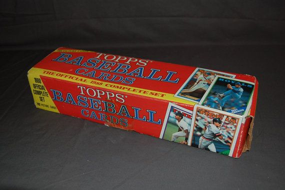COMPLETE set of 1988 Topps Baseball Cards  792 cards by 720vintage