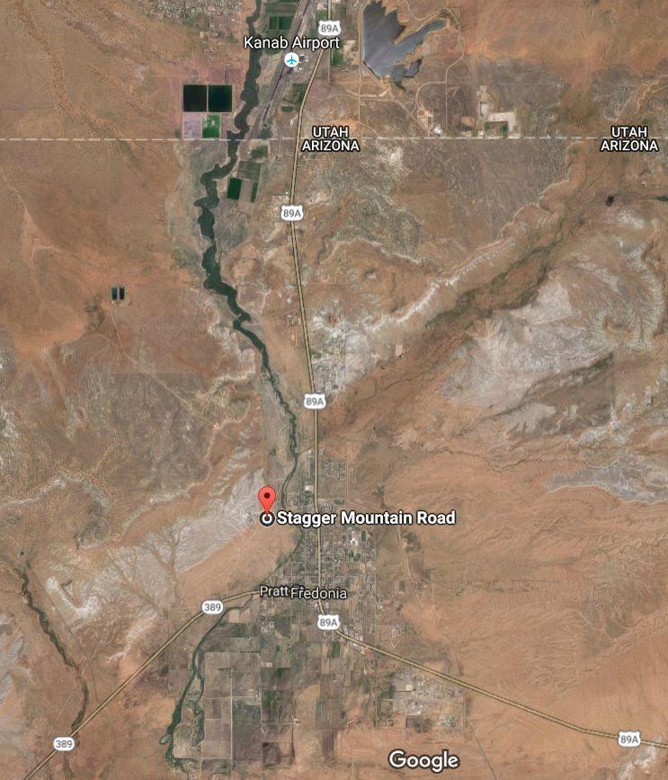 A screenshot of a map showing an
