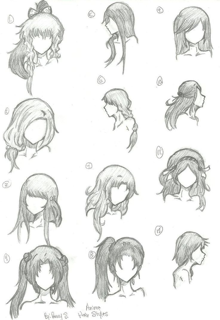 Hair Styles 1-12 de animebleach14 sur DeviantArt #