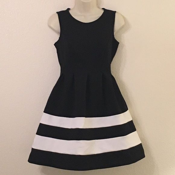 ⚡ FLASH! Black Dress with White Stripes   Wedding summer
