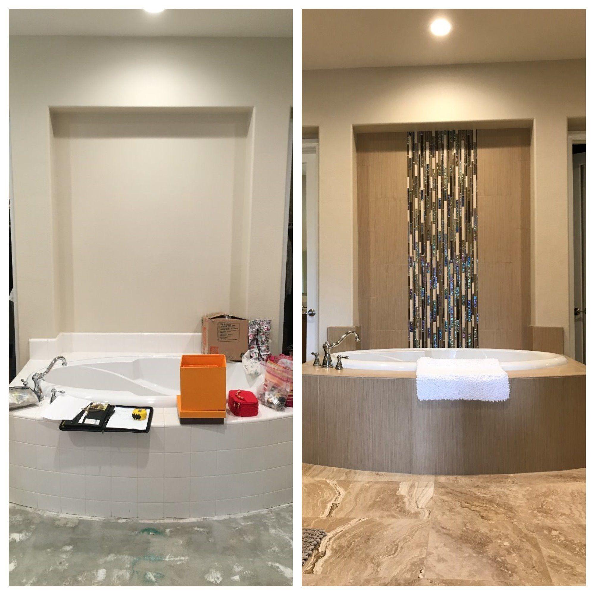 Contemporary Master Bathroom Remodel In Corona CA Before After - Bathroom remodel corona ca