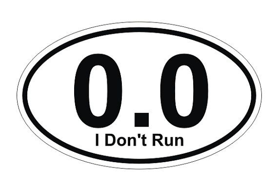 0 0 i dont run half marathon runner oval decal bumper sticker window label 3