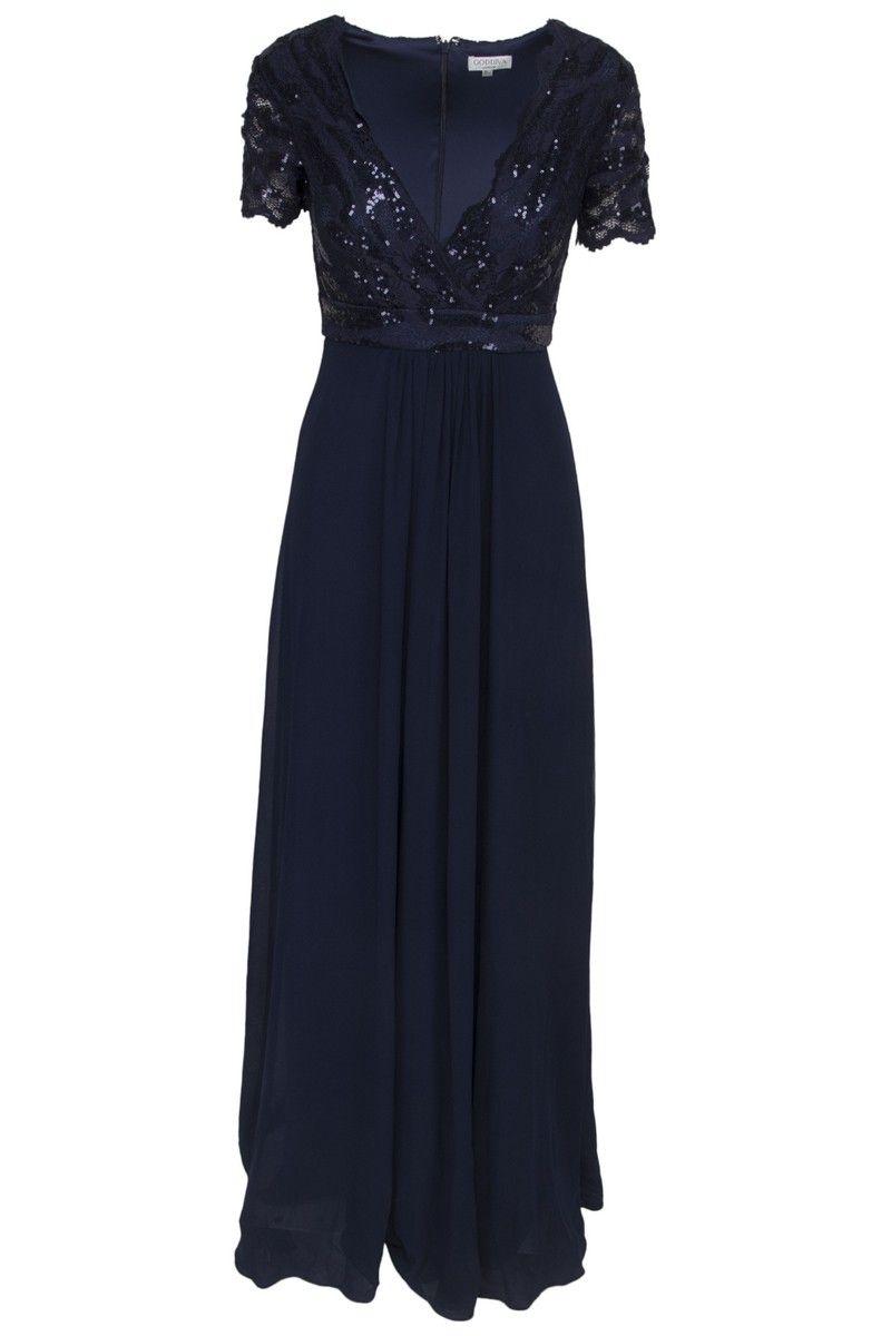 lang chiffon kjole