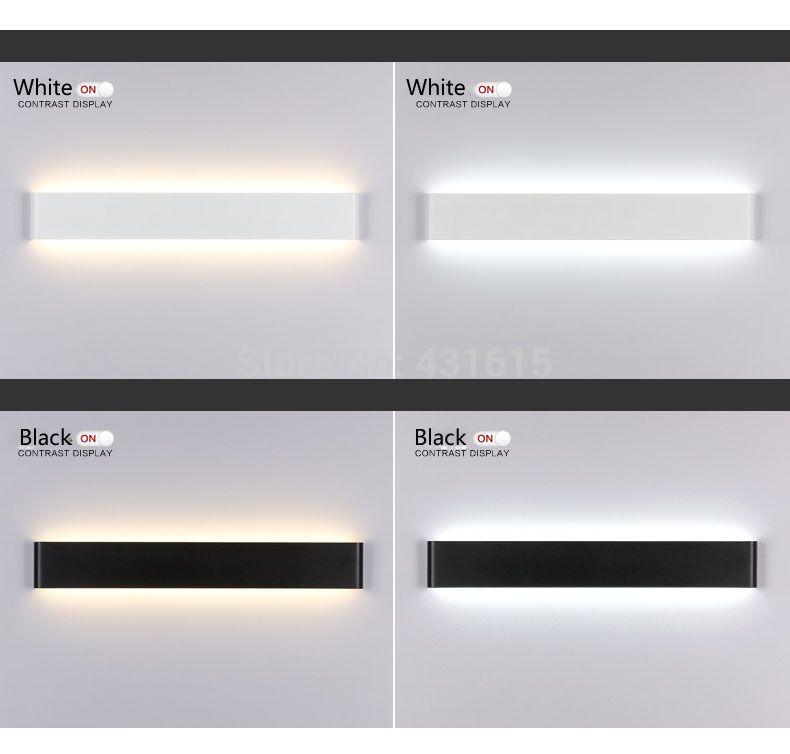 Moderne 24 cm 111 cm Lange Aluminium LED Wandlampen voor livingroom ...