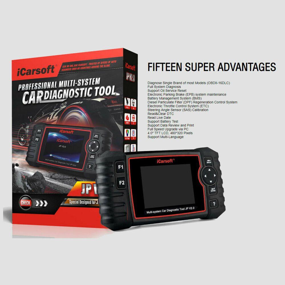 eBay Advertisement) iCarsoft JP V2 0 Multi-System Diagnostic