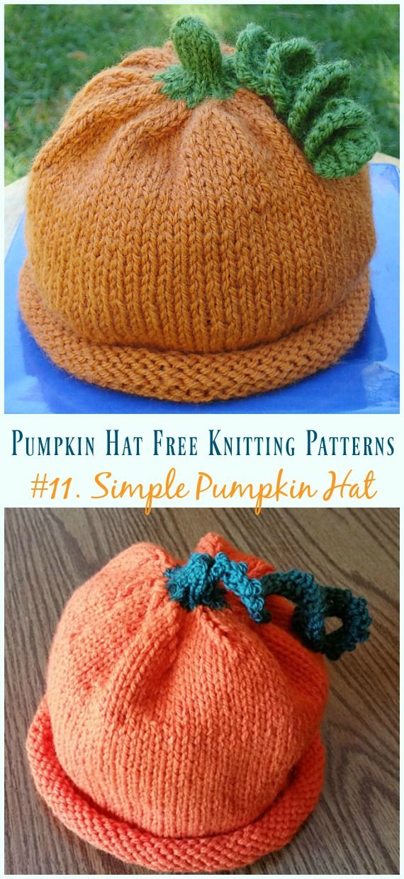 Pumpkin Hat Free Knitting Patterns [Baby To Adults] | GORROS Y ...