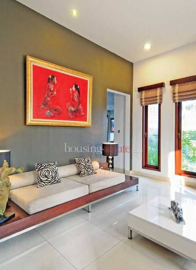 Ruang Tamu Dengan Warna Lukisan Menarik