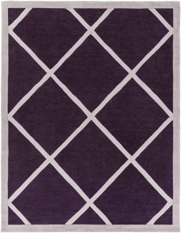 Holden AWHL-1065 Purple/Ivory Modern Rug