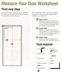 Retractable Screen Door Measurement Worksheet Retractable Screen Door Retractable Screen Screen Door