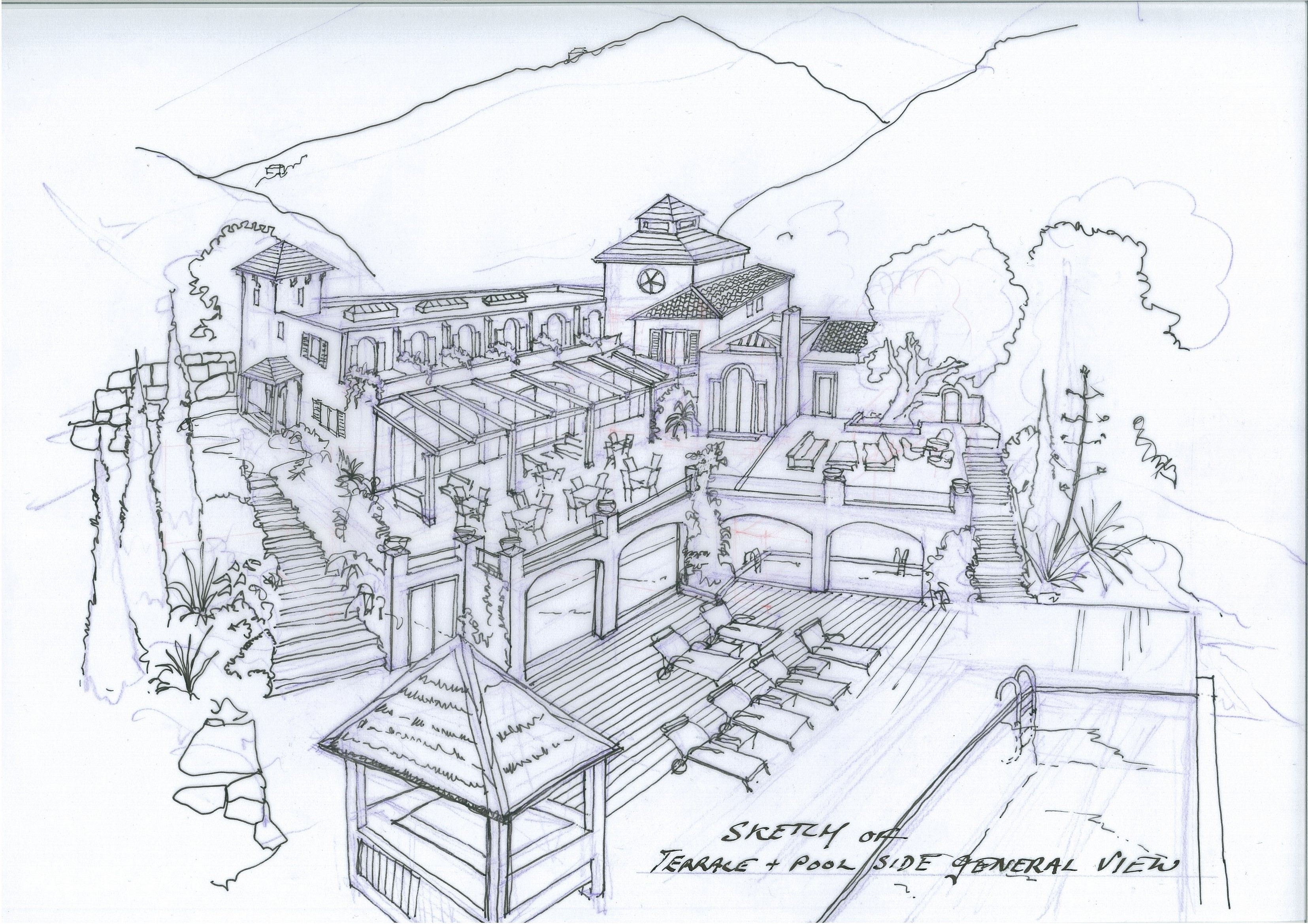 Hotel Hacienda Del Agua Divino (Gaucin, Spain) Sketch of