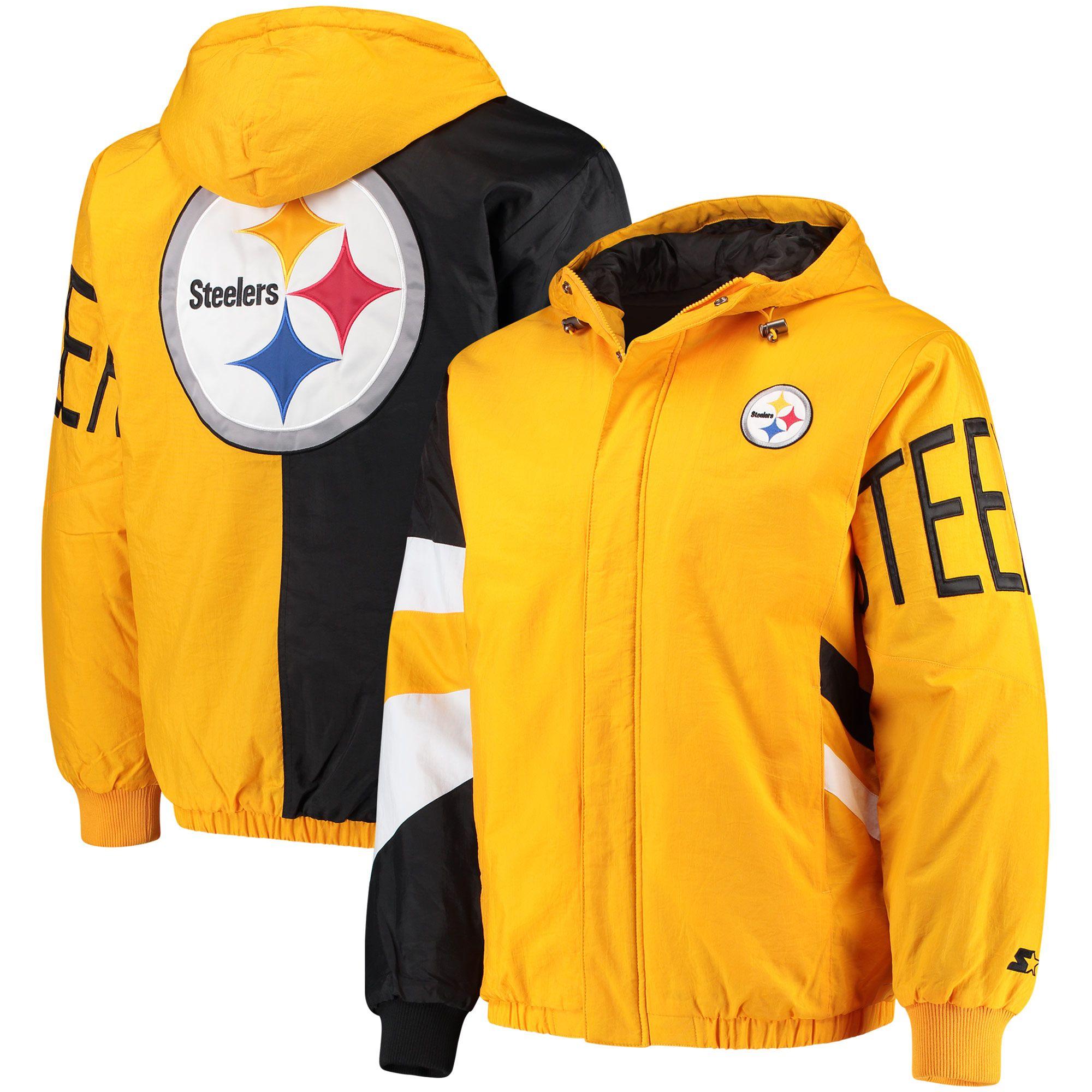 neues Erscheinungsbild Luxus kaufen Heiß-Verkauf am neuesten NFL Pittsburgh Steelers Starter Knockout Full-Zip Jacke ...