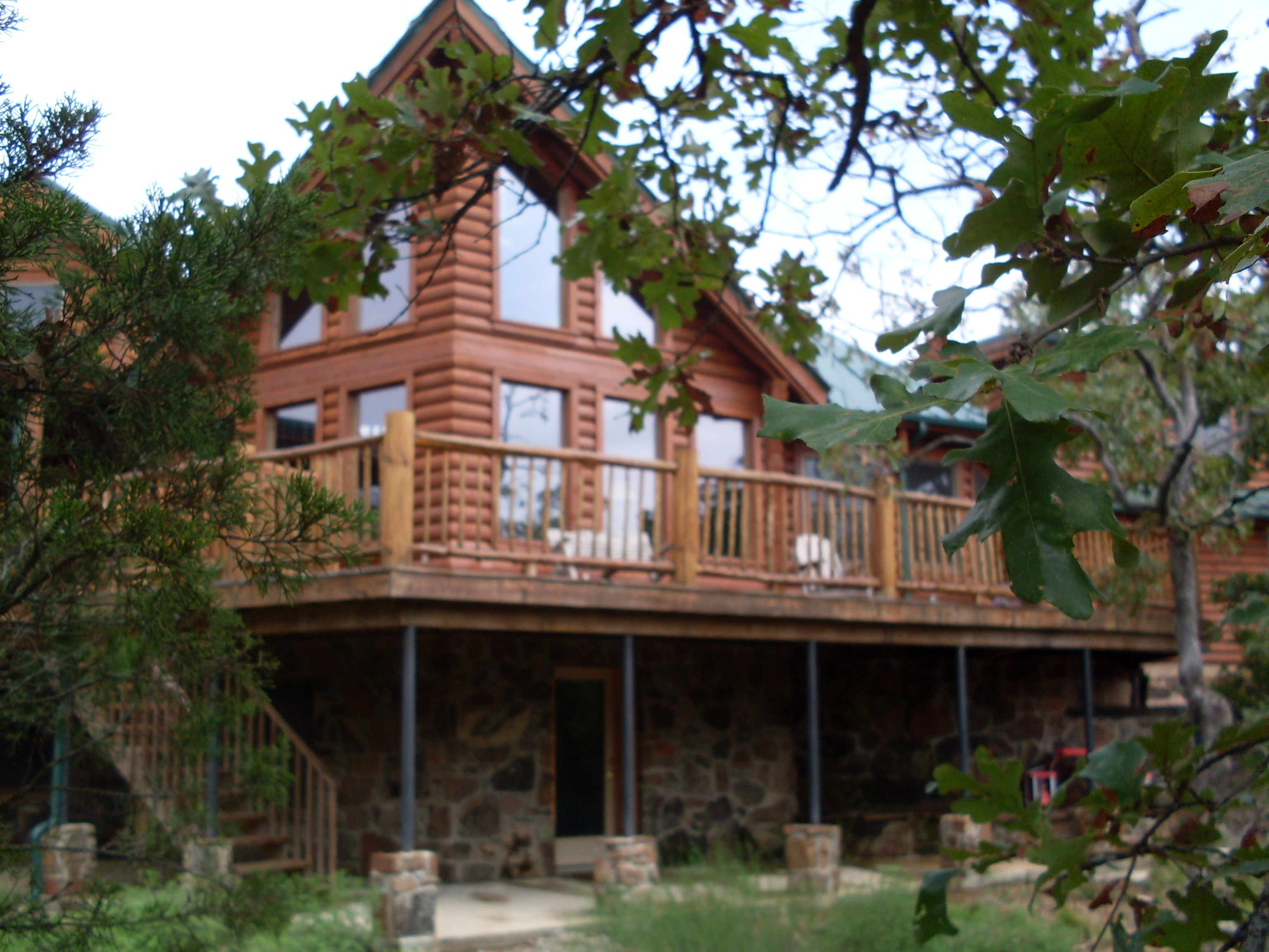 Oklahoma Stone Log House, My Vision For Combining Log Siding And With Our  Existing Stone