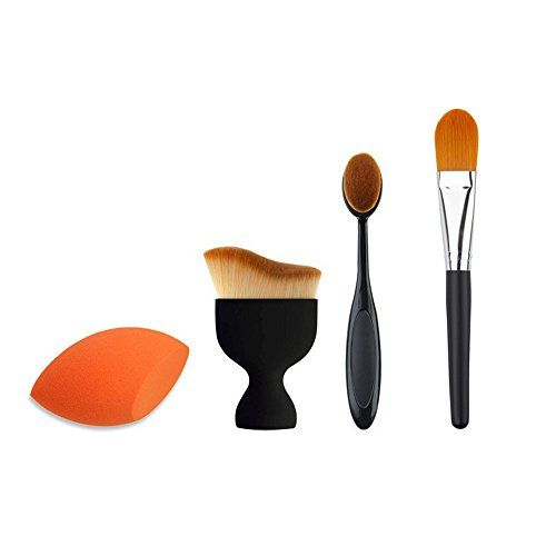 Redcolourful Makeup Brush Tools Set 3 Makeup Brushes 1 Sponge Puff ** Click image for more details.