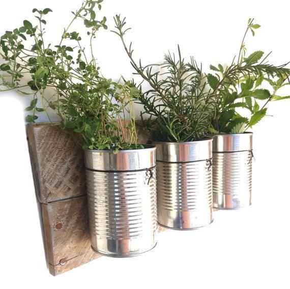 reclaimed wood wall planter indoor - hanging planter indoor herb