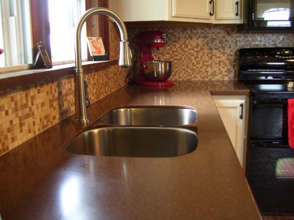 Solid Surface Countertops Kitchen Cabinets And Countertops