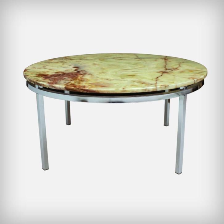 Vintage Ronde Onyx Coffee Table Salontafel Design Retro 70s Coffee Table Table Mid Century Furniture