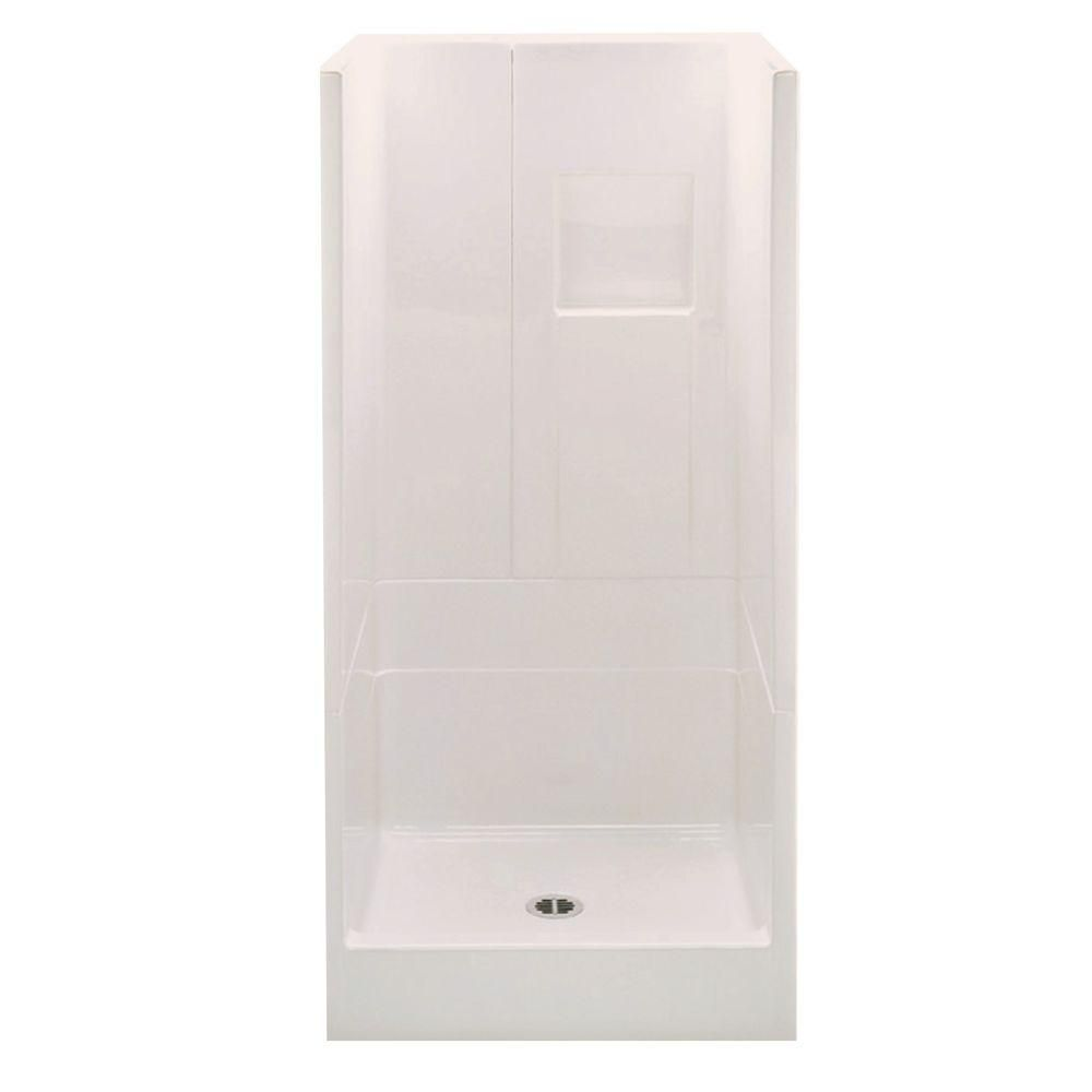 Aquatic Remodeline 36 In X 36 In X 72 8 In 3 Piece Shower Stall