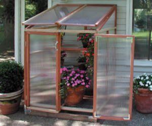 """Patio Gardenhouse . $784.00. Great for gardeners with limited space but that need more than a cold frame. This 4' wide x 37.5"""" deep x 72"""" high structure includes four adjustable benches to give you flexibility and room to grow many different plants."""