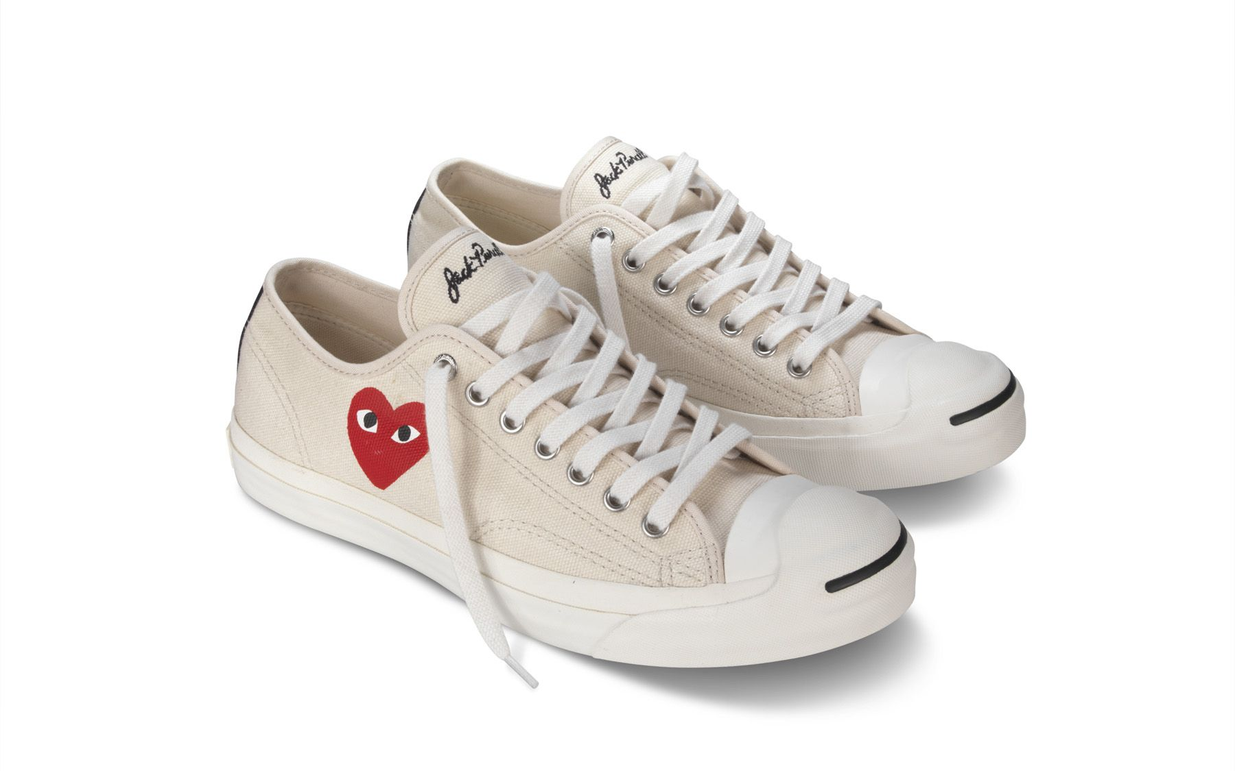 Converse + CDG PLAY Jack Purcell WhiteRed | Converse