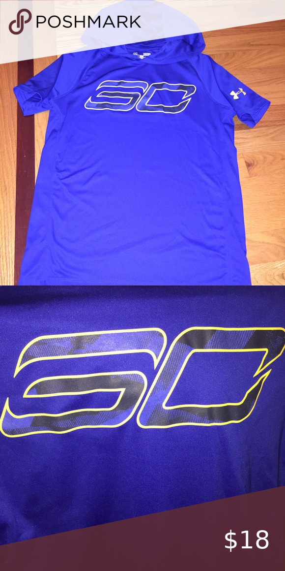 Under Armour Boys Sc Hooded T Shirt Ua Boys Steph Curry Hooded Basketball T Shirt Size Large Brand New Nwot Off Under Armour Shirts T Shirt Clothes Design