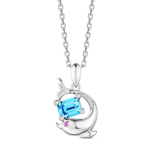 Sterling Silver Aquamarine Fleur Collier