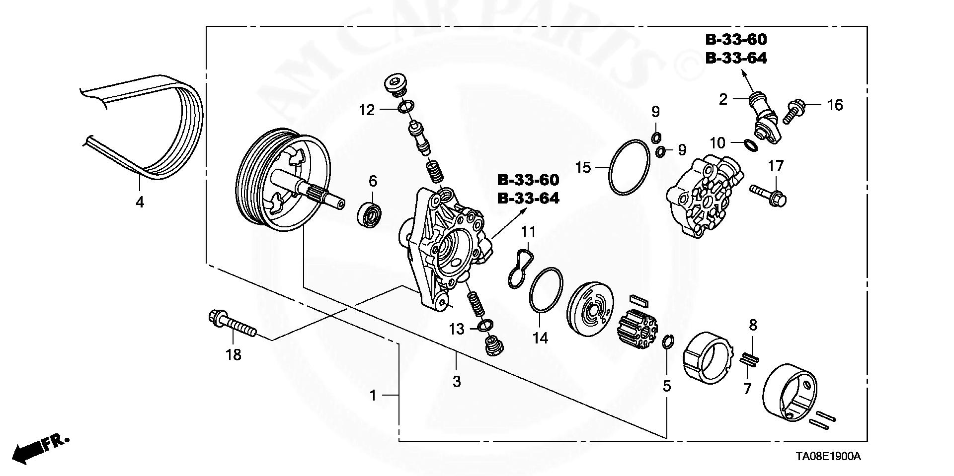 R60 T02 Pump Assy Power Steering L4