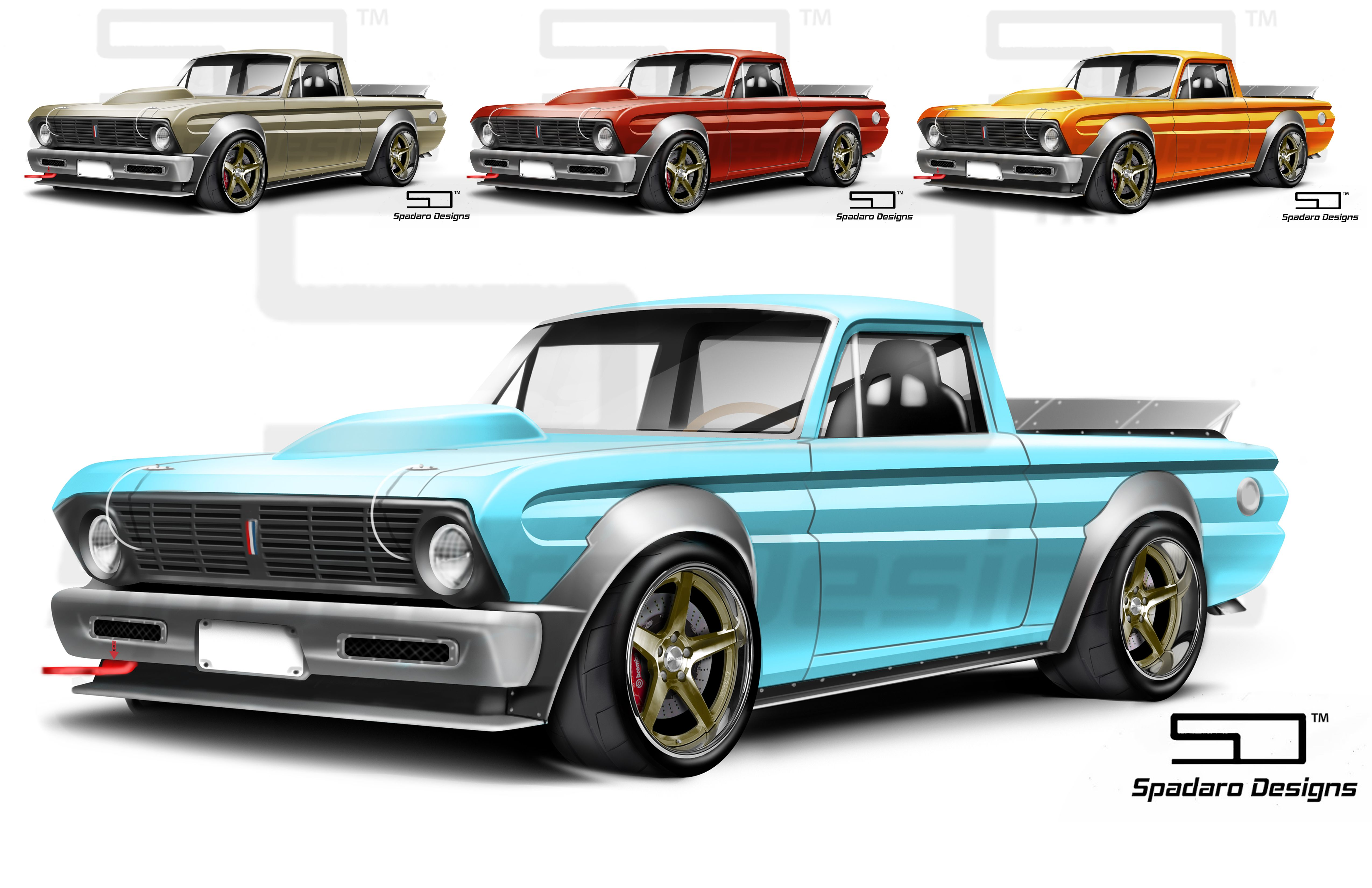 1965 Ford Ranchero Track Truck Design I Did Today Ford Pickup Trucks Old School Cars Automotive Illustration