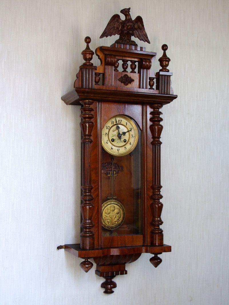 美音アールヌーボー調・花柄のドイツ製アンティーク柱時計 « 西洋骨董時計店 ドイツアンティーク柱時計の世界