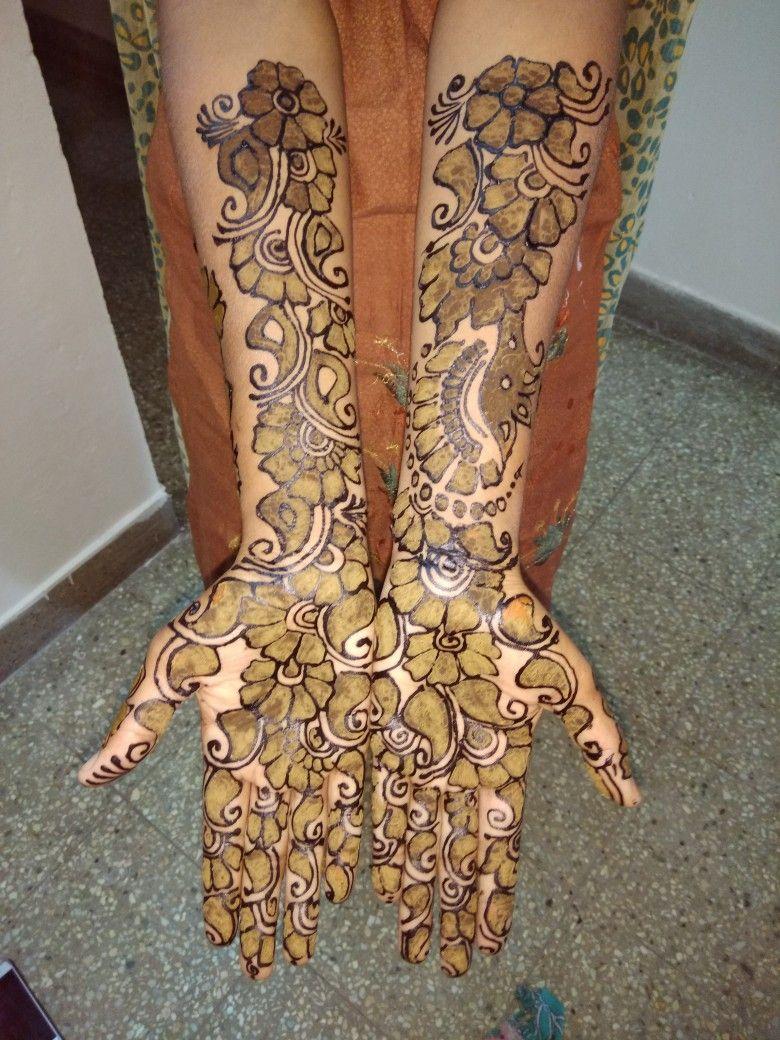 Viji Black And Normal Mehandi Design Mehendhi Designs Black