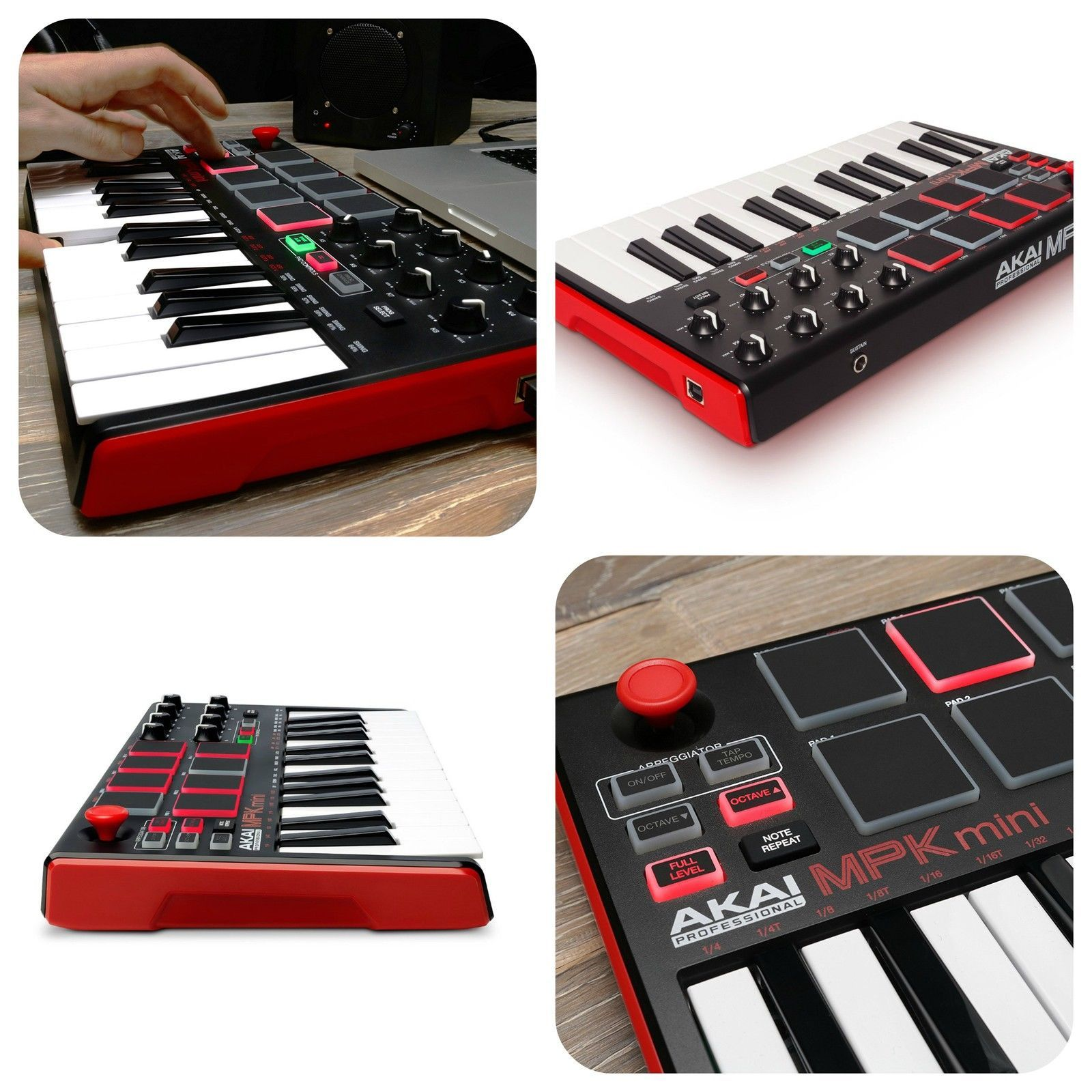 Beat & Music Maker DJ Piano USB MIDI Drum Pad & Keyboard