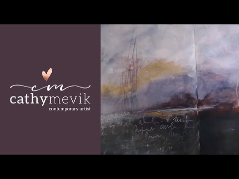 (104) Art journaling - Easy to follow painting of an Abstract landscape! - YouTube