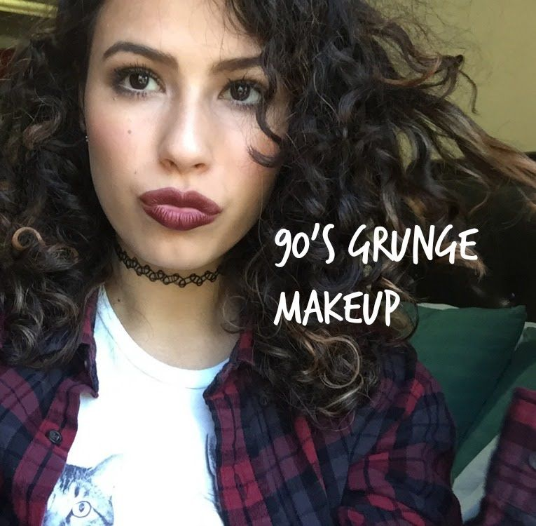 90s grunge hair and makeup