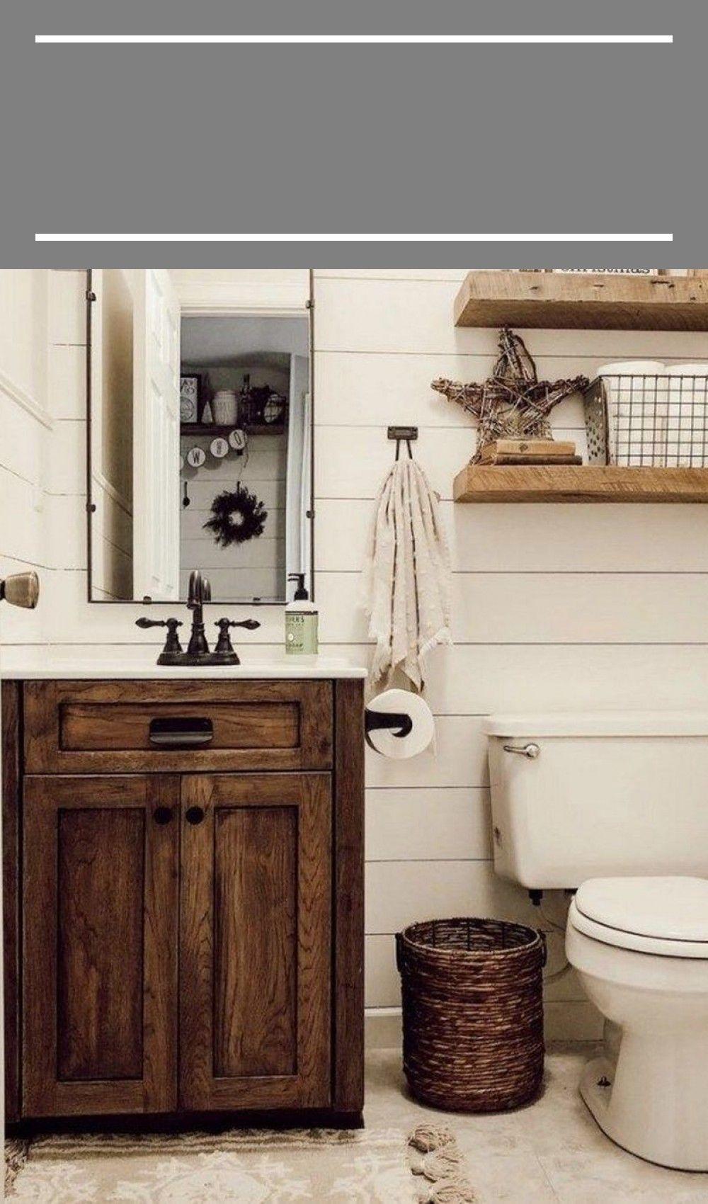 #farmhouse bathroom decor guest 80 Small Farmhouse ...