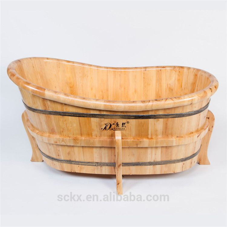 Solid Wood Cedar Small Corner Tub Shower,Portable Soaking Tub - Buy ...