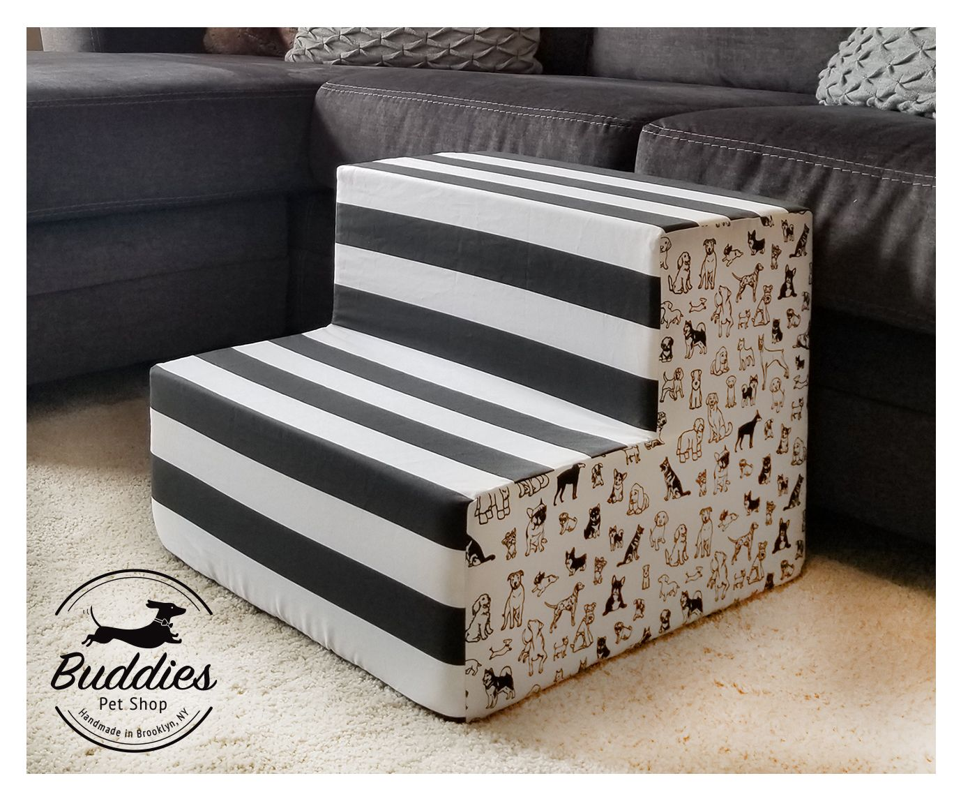 Dog Stairs Steps For Couch Or Bed Indoor Soft Dog Stairs
