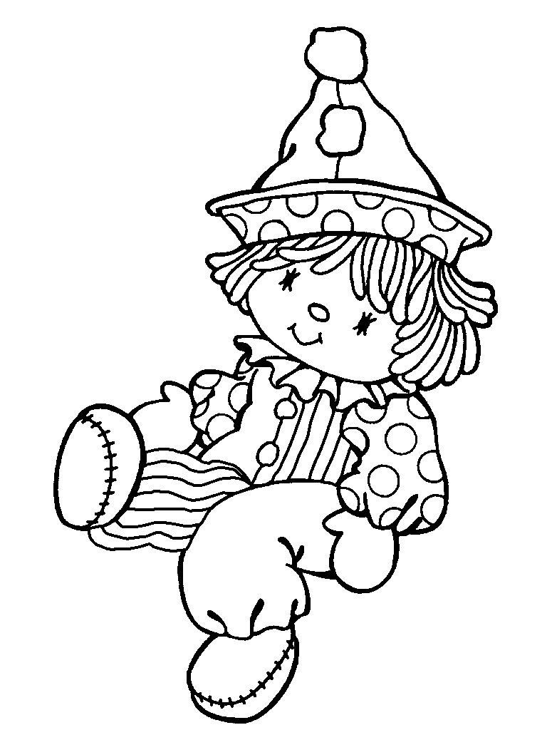 I just love little clowns! Precious moments coloring