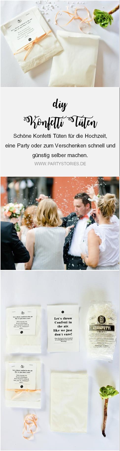 Diy Konfetti Tuten Schone Konfetti Verpackung Einfach Selber Basteln Konfetti Hochzeit Hochzeit Deko