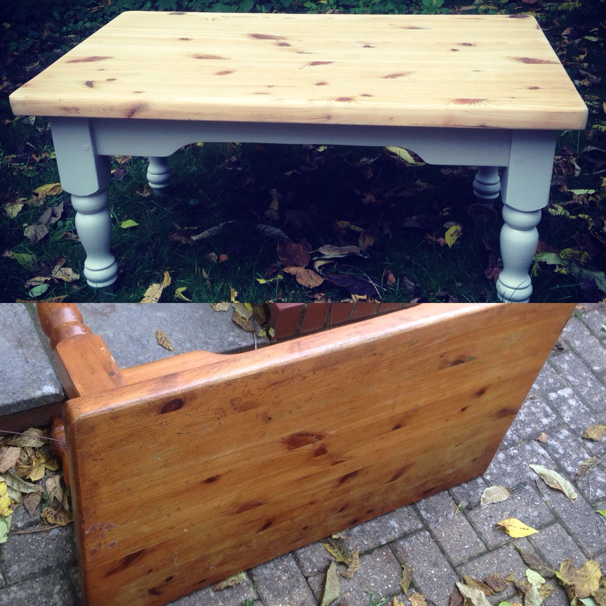 Before And After Makeover Little Pine Coffee Table Beautifully Transformed Painted Coffee Tables Chalk Paint Coffee Table Table Makeover [ 2048 x 2048 Pixel ]