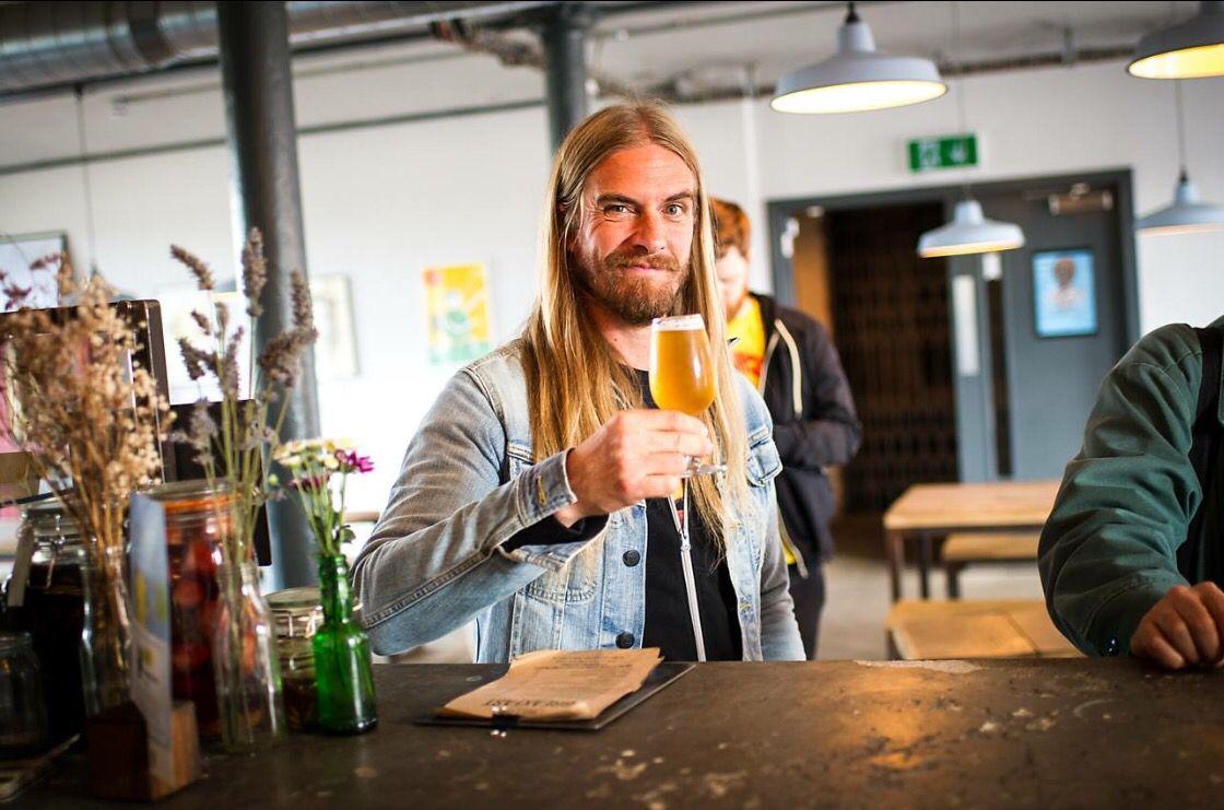 The Axe man drinketh.