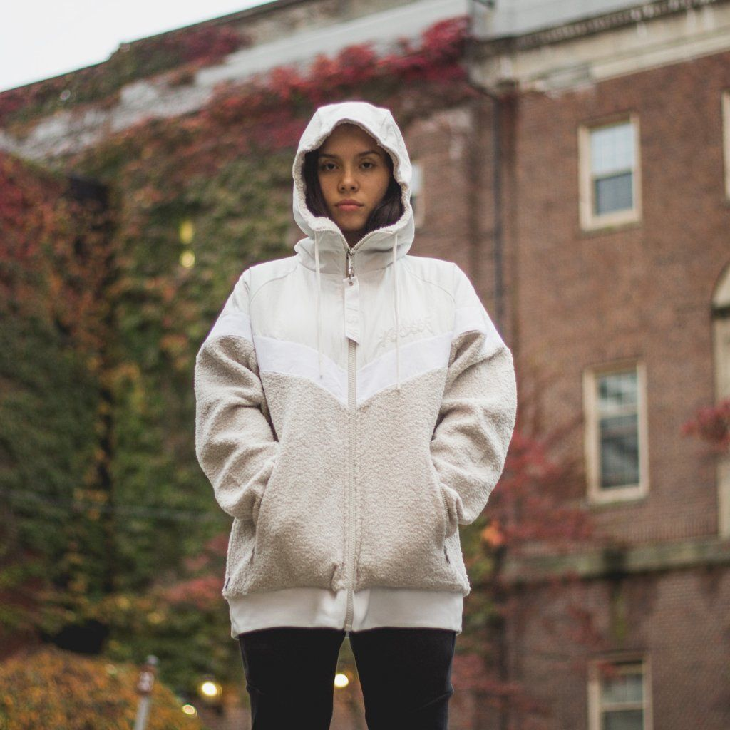 reasonable price excellent quality the latest NIKE Sportswear NSW Sherpa WindRunner - Summit White/Light ...