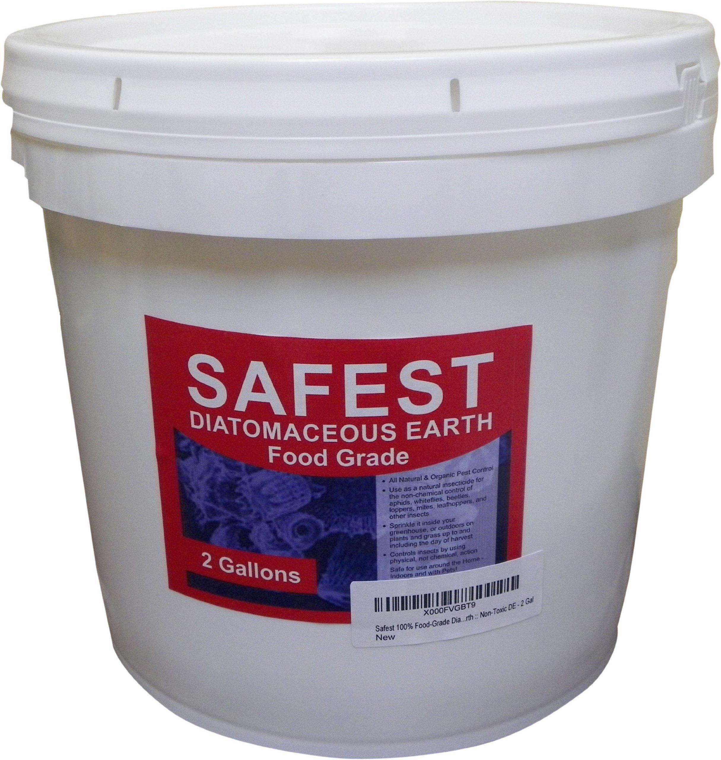 Safest Diatomaceous Earth, Food Grade DE Powder 2 Gal