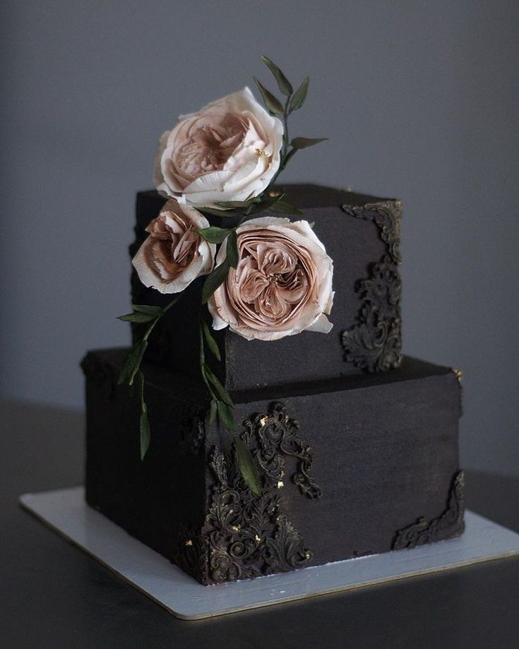 40 UNIQUE BLACK WEDDING CAKES DESIGN AND IDEAS  Page 47 of 49