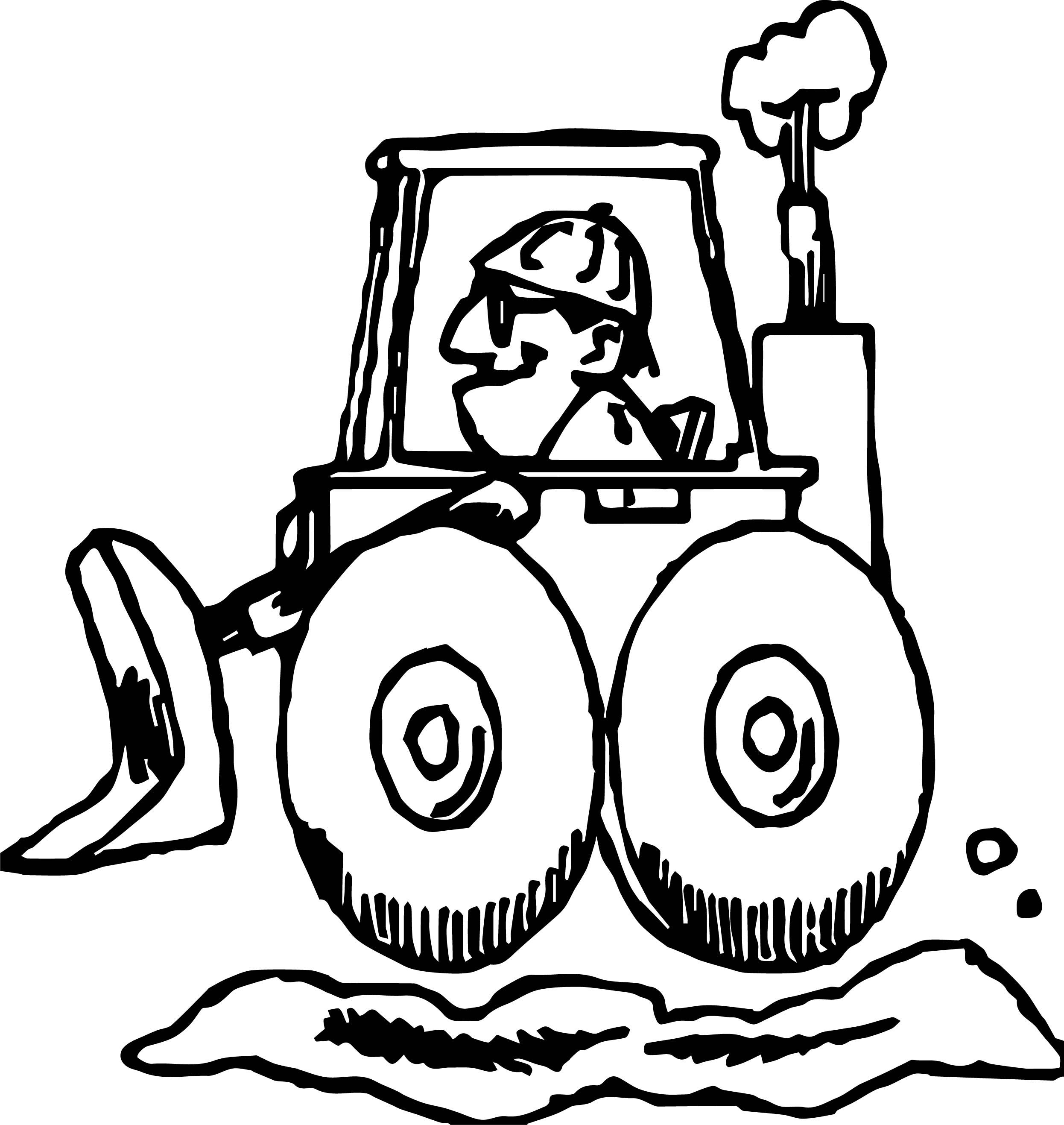 Awesome Bulldozer Man Coloring Page Monster Truck Coloring Pages Truck Coloring Pages Monster Trucks