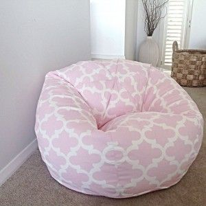 Cute Round Baby Pink Bean Bag Chair For Teen Girl S Bedroom