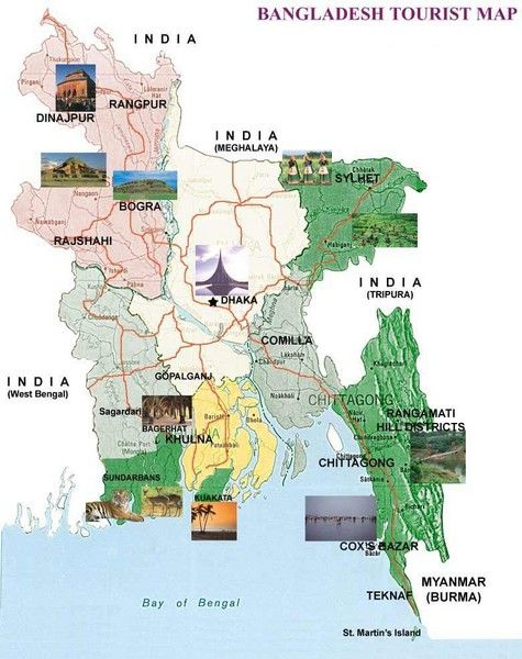 Famous tourism spot map of bangladesh. | Mapping with everyday life ...